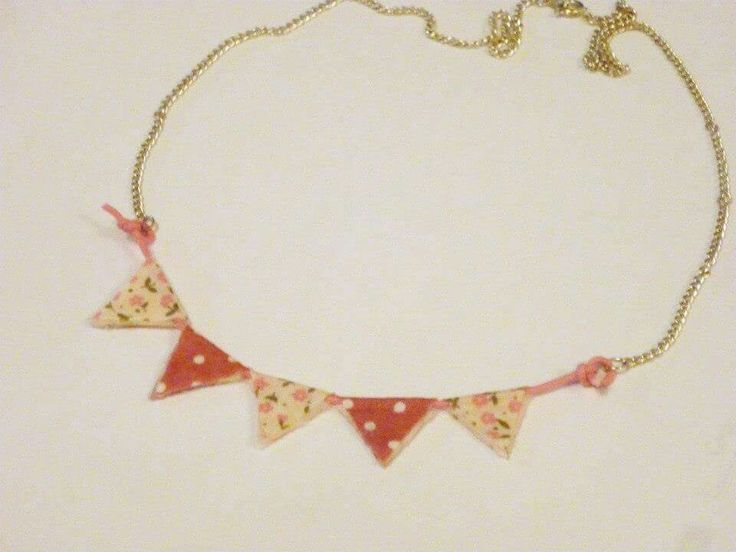 Bunting necklace, available to buy at www.facebook.com/dreambirddesigns