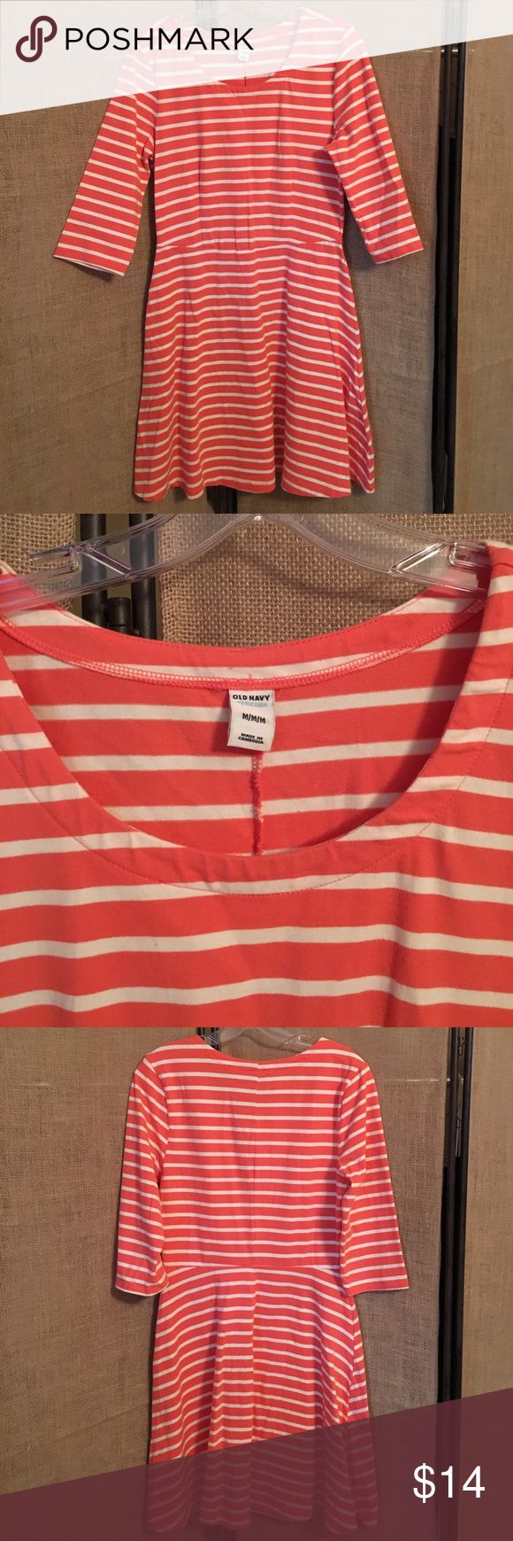 Old Navy Striped Dress Old Navy Crew Neck Striped Dress in great condition Old Navy Dresses