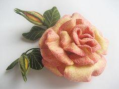 Felted Rose photo-tutorial maстер-класс  Роза | Ярмарка Мастеров - ручная работа, handmade