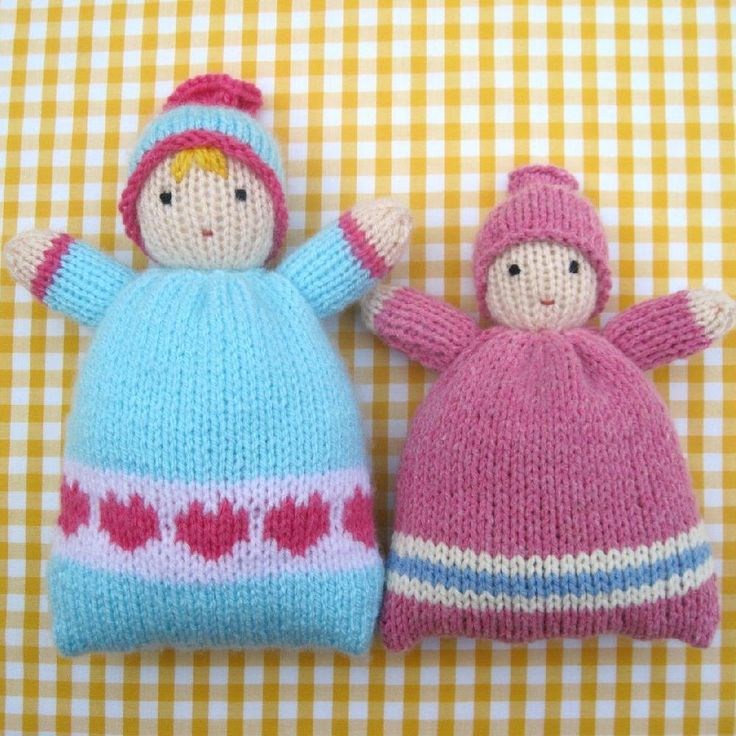 Little Sweethearts – knitted doll
