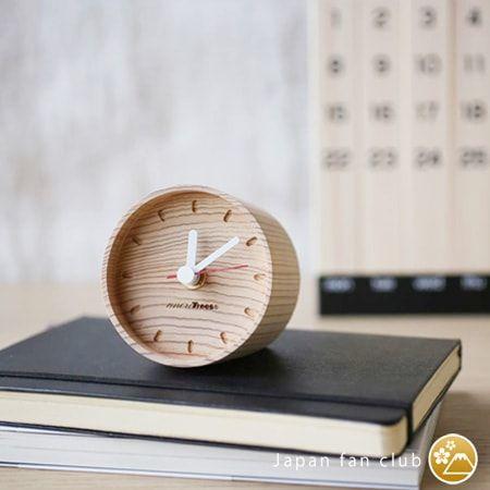 おしゃれな年輪の置き時計 more trees | 日本デザインストア 年輪の置き時計はインテリアに馴染む