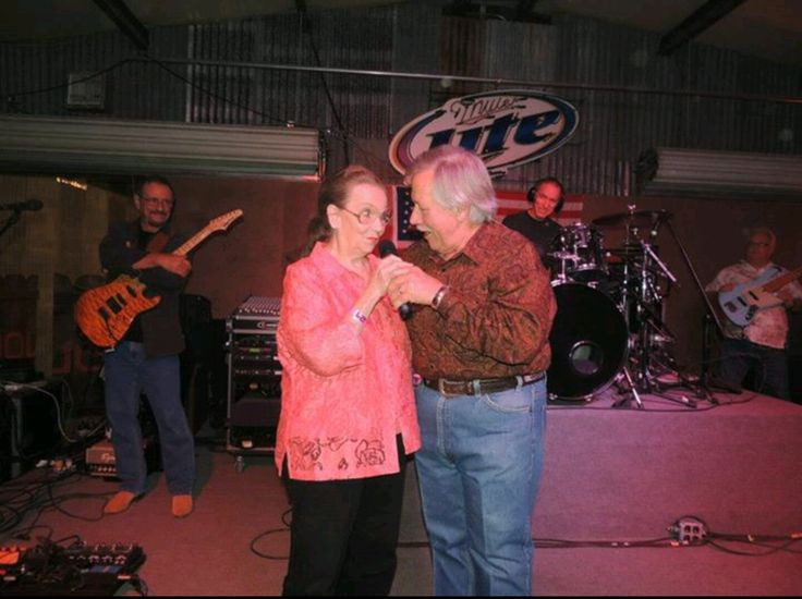 Grandma Faye Berry with John Conlee singing Rose Colored Glasses.