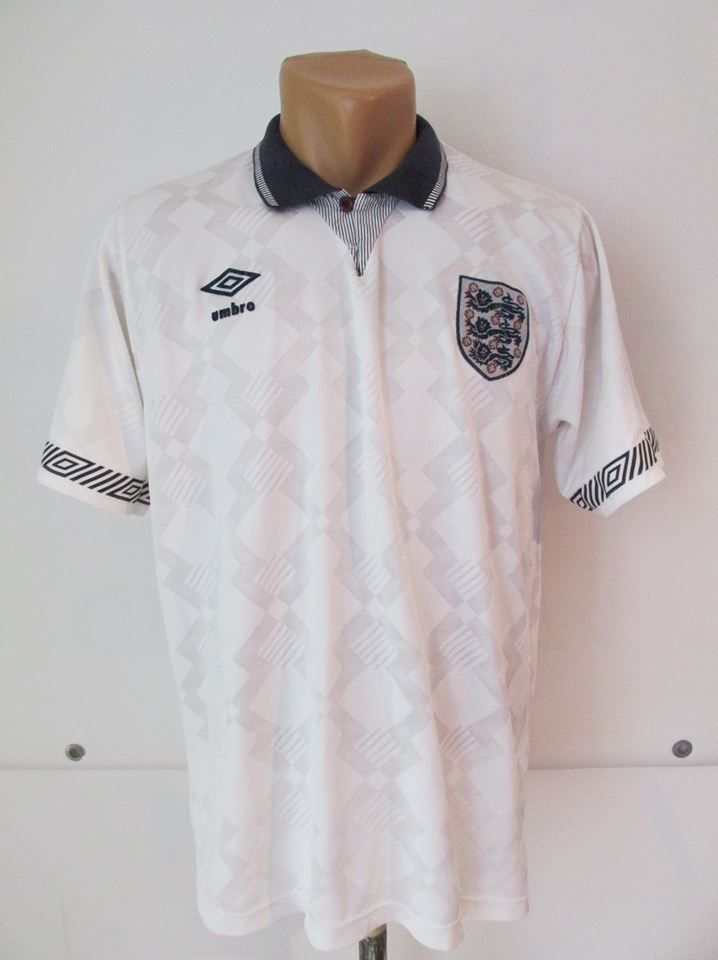 England 1990 1991 1992 Home Football Shirt By Umbro Worldcup90 Jerseyworldcup Cfsworldcup Jersey Soccer Vintage Shirts Football Shirts National Football Teams