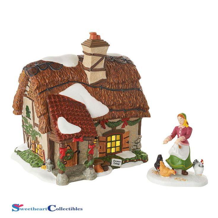 Dept 56 Dickens Village Foxmore Cottage 4054775 Set of 2