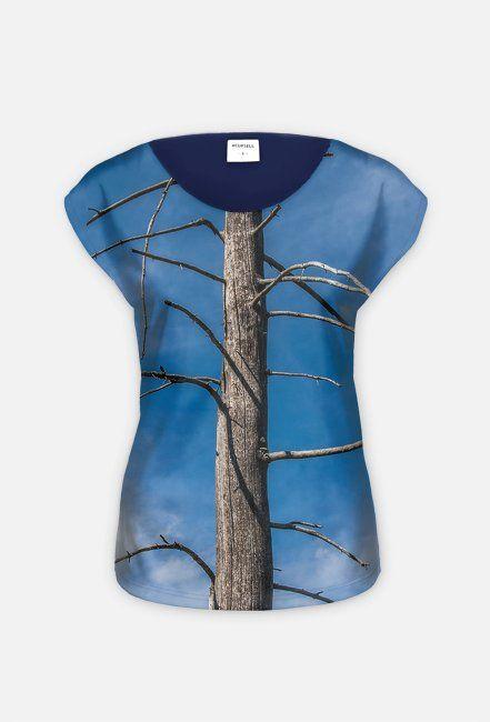 Koszulka hybrydowa z drzewem