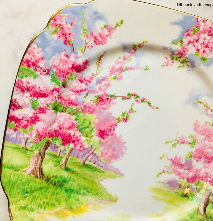 A personal favorite from my Etsy shop https://www.etsy.com/ca/listing/593422247/royal-albert-bone-china-blossom-time