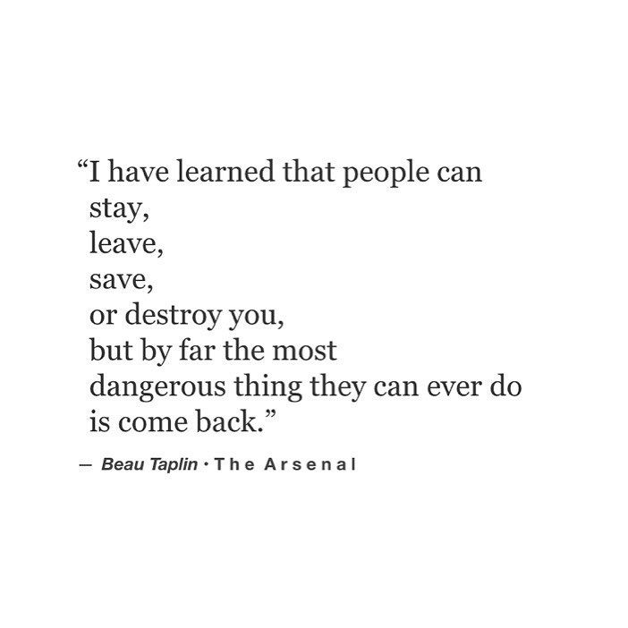 Really? Food for thought. But don't we all want them to come back? ):(@beautaplin) on Instagram