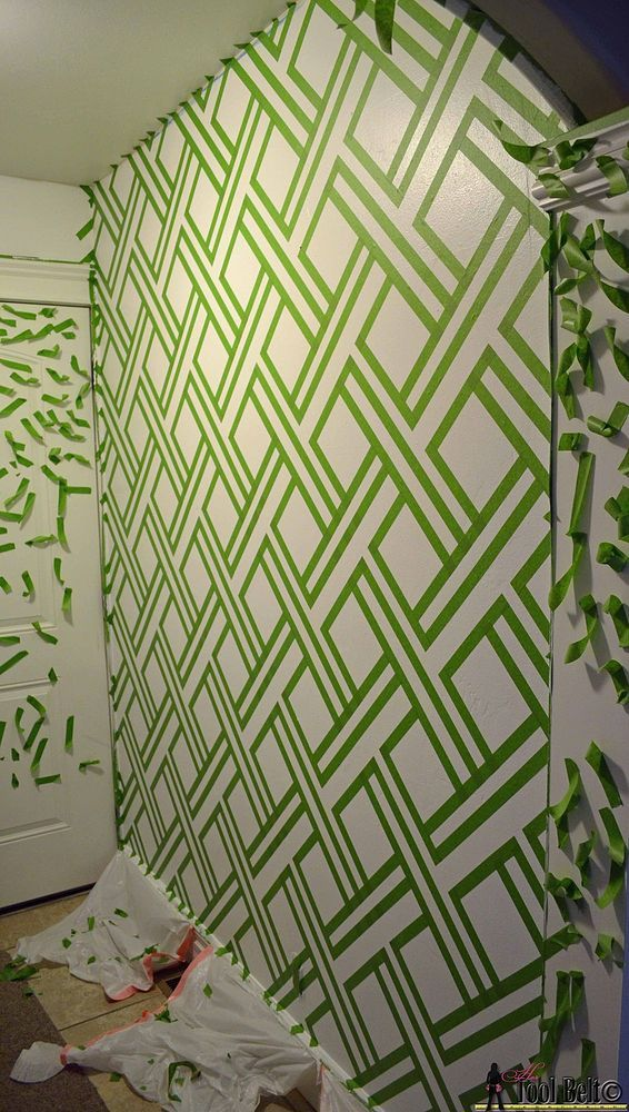 diy modern wall design with painters tape