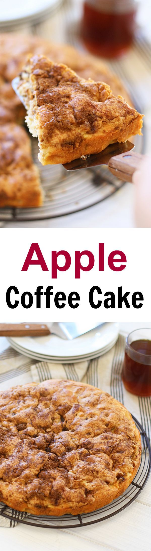 Apple Coffee Cake – sweet and decadent coffee cake loaded with apple, this cake is super easy to bake and perfect with tea or coffee | rasamalaysia.com