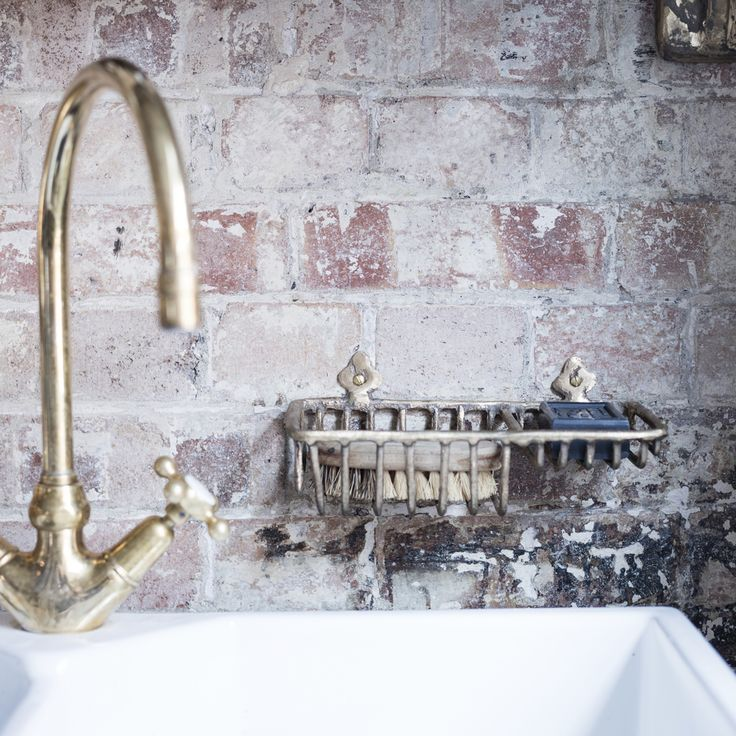 Hardware Is Cast By Hand In The UK Solid Bronze Small Draining Rack Ideal Sink Storage For Brushes Soaps And Sponges