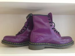 Available @ TrendTrunk.com Purple Combat Boots. By Doc Martens. Only $80.00!