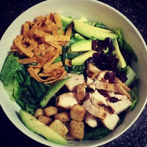 Cranberry Avocado Teriyaki Chicken Salad