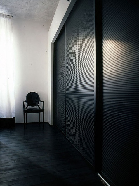 Sliding closet doors.