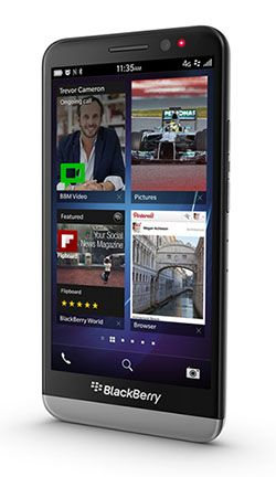 The Z30 is BlackBerry's touch screen flagship. It looks great and it's got the BlackBerry 10 OS http://www.clove.co.uk/blackberry-z30