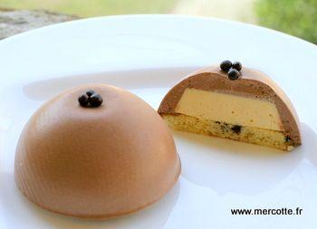 Entremets individuel poire chocolat de Mercotte C'est devenu mon dessert préféré à préparer