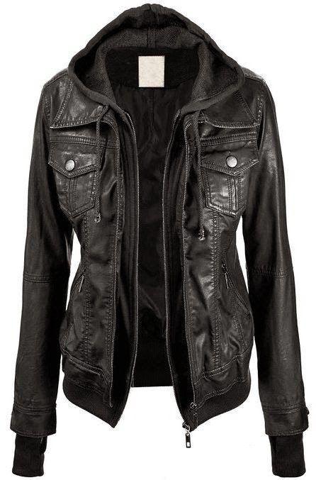 Lock + Love Faux Leather Jacket