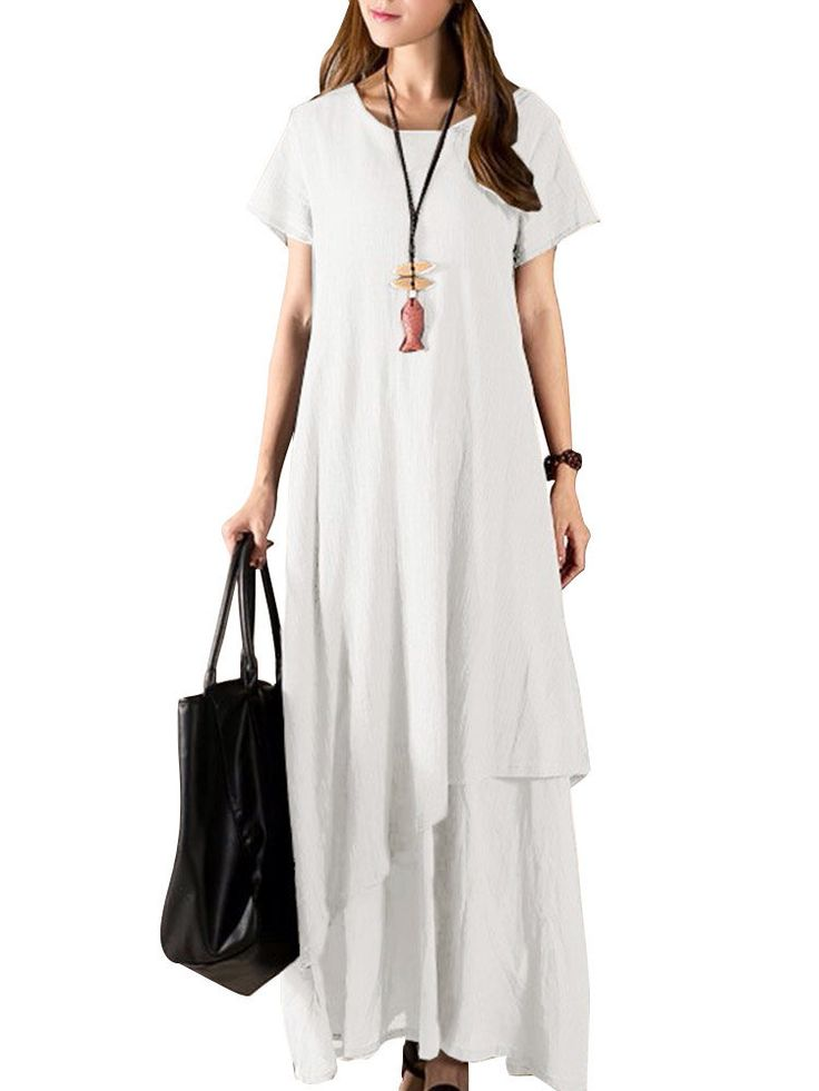 Only US$29.89 , shop Casual Women Solid Summer Mori Girl Rayon Evening Party Maxi Dress at Banggood.com. Buy fashion Vintage Dresses online.