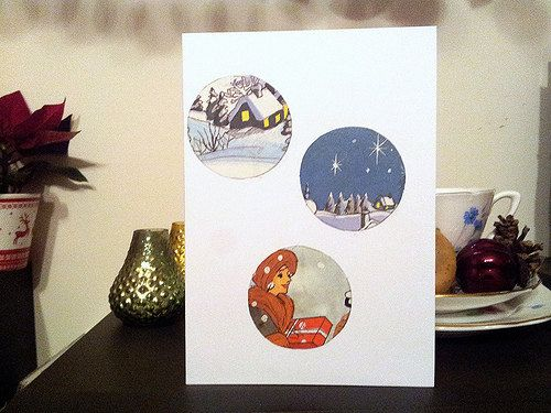 Handmade Christmas Cards - vintage children's book cards by ellabetsyboo, £2 each on Etsy