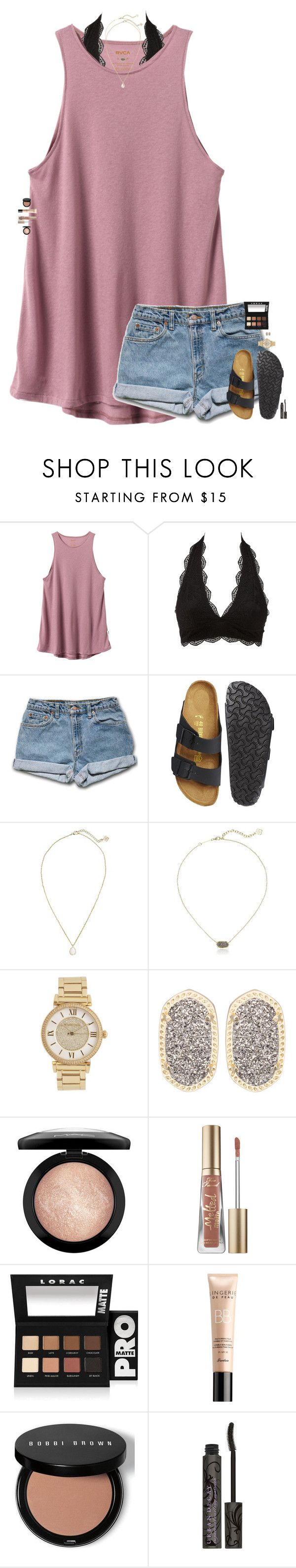 """I've been feeling everything from hate to love from love to lust from lust to truth I guess that's how I know you."" by maggie-prep ❤ liked on Polyvore featuring RVCA, Charlotte Russe, Birkenstock, Kendra Scott, Michael Kors, MAC Cosmetics, Too Faced Cosmetics, LORAC, Guerlain and Bobbi Brown Cosmetics"