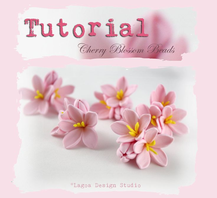 TUTORIAL Polymer Clay Sakura Cherry Blossom Beads Hand Sculpted Lifelike Flowers PDF eBook (7.50 USD) by lagoaclaycreations
