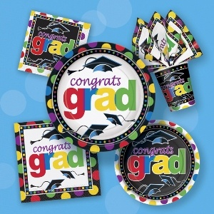 Grad Spark Basic Kit.  Kit includes   16 Beverage Napkins   16 Luncheon Napkins   8 Dessert Plates   8 Dinner Plates   8 Cups
