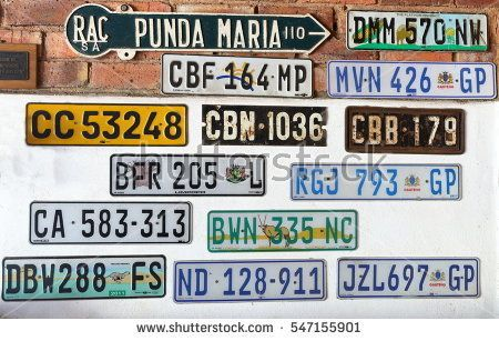 Image result for south african car number plates