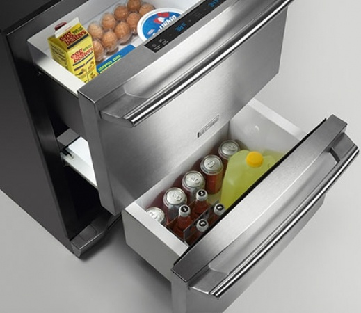 great drawer fridge kitchen remodel pinterest. Black Bedroom Furniture Sets. Home Design Ideas
