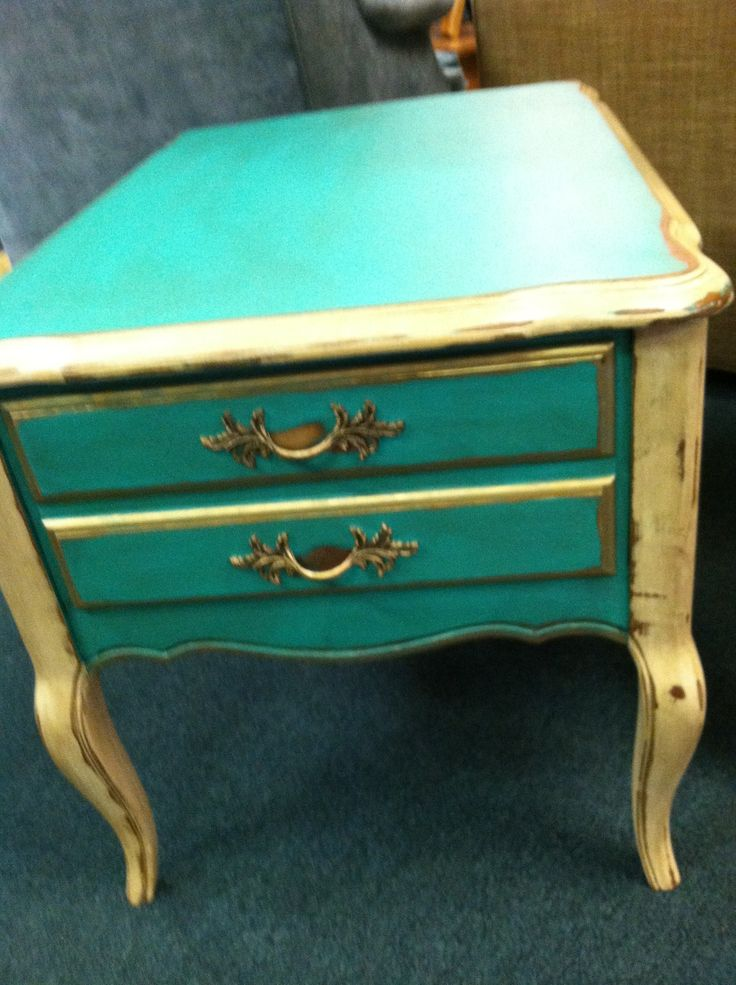 French provincial hand painted night stand | Redone