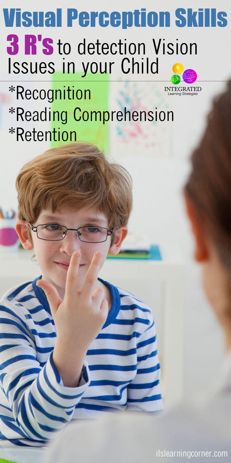 Визуальные навыки: 3 R о том, что Detect Визуальные Недостатки восприятия - признание, понимание прочитанного и удержание |  ilslearingcorner.com