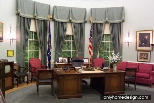 Basic Workplace Interior For Oval Office Style - http://www.onlyhomedesign.com/houses/basic-workplace-interior-for-oval-office-style.html