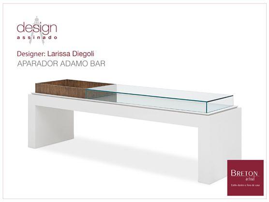 Criado por Larissa Diegoli, o aparador Adamo Bar é uma peça funcional e rica em detalhes, que por si só já é um belo item de decoração. Veja em nossa loja virtual: http://bit.ly/12UgKOJ #BretonActual #DesignAssinado