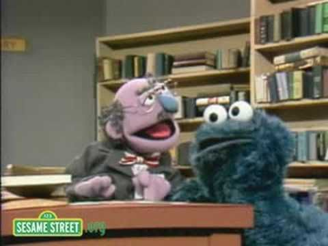 Sesame Street: Cookie Monster In The Library--this would be sweet to show before heading to library for the first time!