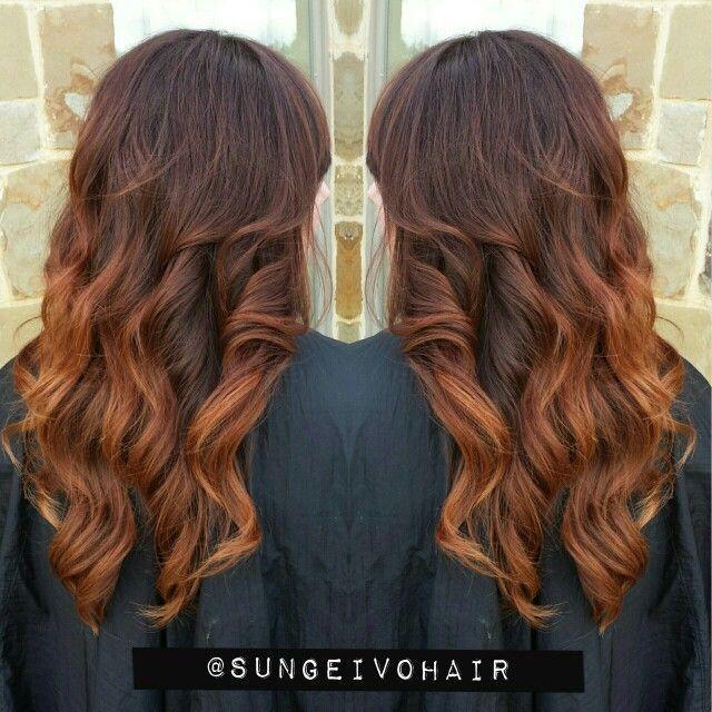 Hair Balayage, Auburn Copper Ombrer, Hair Color, Auburn Ombre Hair