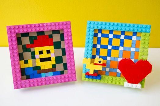 大人のレゴ教室がブームに! 写真は、大人レゴ作品。