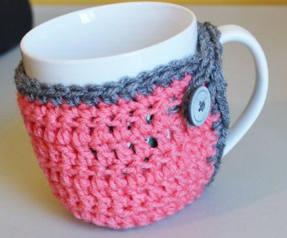 Crocheted Coffee Cup Cozy Mug Cozy or Tea by handmadebyMarcyNTom, $6.99