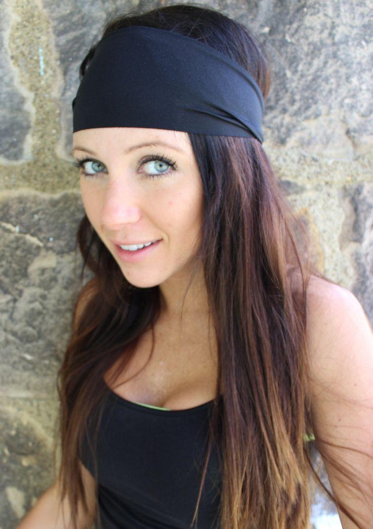 Manda Bee's Perfect Stretch Yoga / Beach Hippie Headband Black. $5.00, via Etsy.