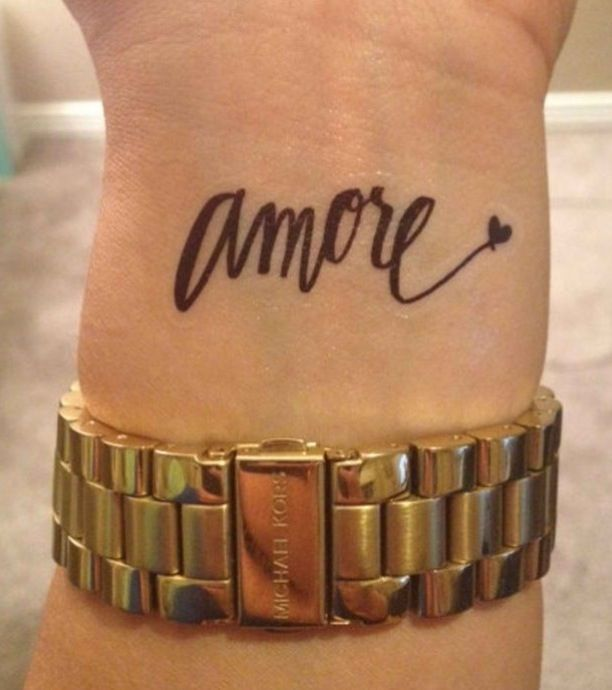 Amore (love) tattoo