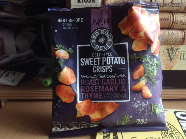 """Back home in Australia now, found these in my local supermarket, """"Sweet Potato Crisps"""""""