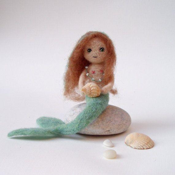 Felt mermaid | Little mermaid, needle felted mermaid doll