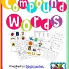 Compound Words- Multiple ways to play!~Memory with the picture and word cards or Memory with the word cards that make the compound word~Adjective/...