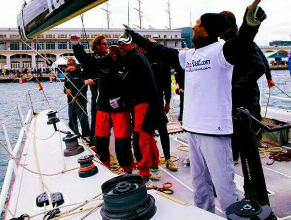 Podio #barcolana. Letyourboat team pendragon www.letyourboat.com