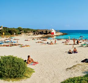 The Beach - Binibeca Vell on the Island of Menorca (Balears, Espanya)