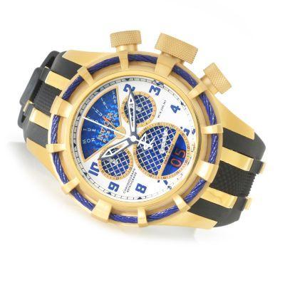 "Invicta Reserve 50mm Bolt ""Twisted Metal"" Swiss Made Quartz Chronograph Strap Watch"