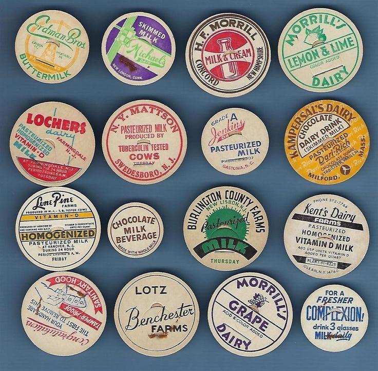 COLLECTION OF INTERESTING OLD MILK BOTTLE CAPS