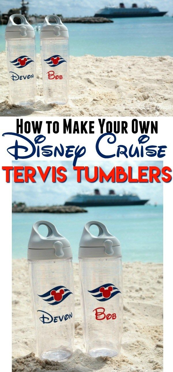 How to Make Your Own Disney Cruise Tervis Tumblers