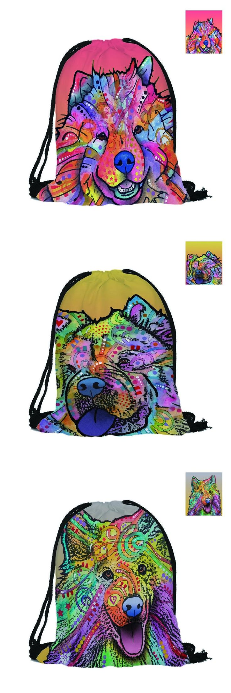 [Visit to Buy] Custom Drawstring Bag 3D Printing Backpack Samoyed Dog Mochila White Women Lovely Dog Casual Backpack  #Advertisement