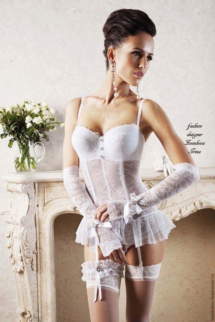 Купить Корсет Свадебный УТЯГИВАЮЩИЙ со съемными подвязками - белый, корсет…