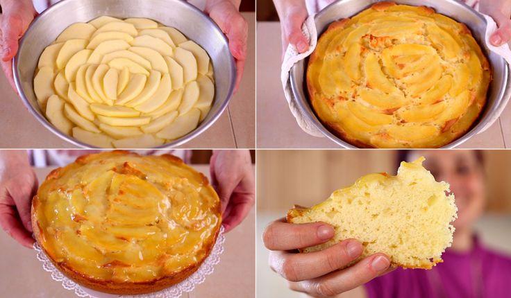 TORTA DI MELE SOFFICE yogurt e vaniglia ricetta facile.