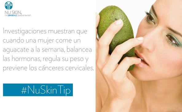 Importancia de consumir aguacate. #NuSkinTip   contacto +573118202965   aperturando Nuskin Chile