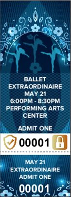 When you're planning a dance performance, you want the evening of the performance to run as smoothly as possible. Our customizable Ballet Tickets with Security Features will help you accomplish that!